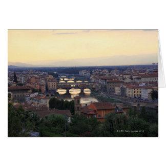 El río y el Ponte Vecchio de Arno en Florencia, Felicitacion