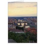 El río y el Ponte Vecchio de Arno en Florencia, Tarjeta De Felicitación