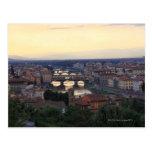 El río y el Ponte Vecchio de Arno en Florencia, Tarjetas Postales