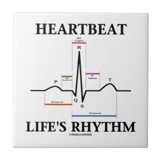 El ritmo de la vida del latido del corazón (ECG/EK Azulejos