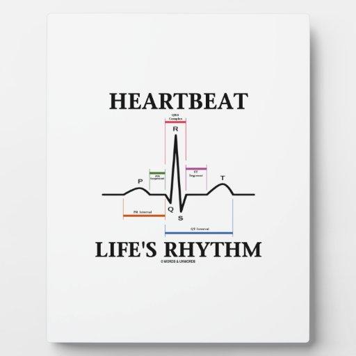 El ritmo de la vida del latido del corazón (ECG/EK Placas De Plastico