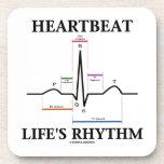 El ritmo de la vida del latido del corazón (ECG/EK Posavaso