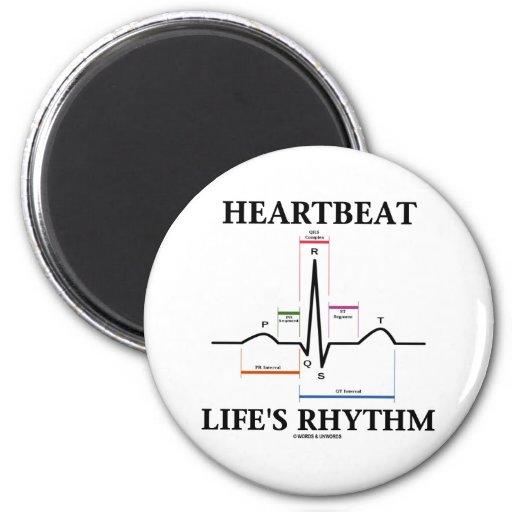 El ritmo de la vida del latido del corazón (latido imán de frigorifico
