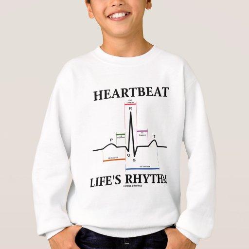 El ritmo de la vida del latido del corazón (latido remera
