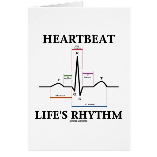 El ritmo de la vida del latido del corazón (latido tarjeta de felicitación