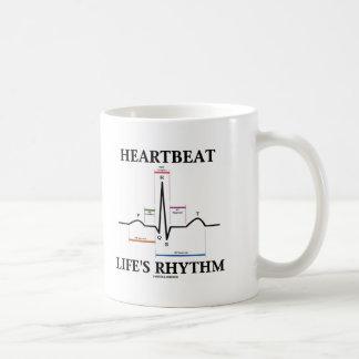 El ritmo de la vida del latido del corazón (latido taza básica blanca
