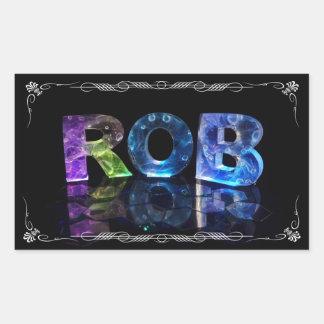 El Rob conocido en 3D se enciende (la fotografía) Pegatina Rectangular