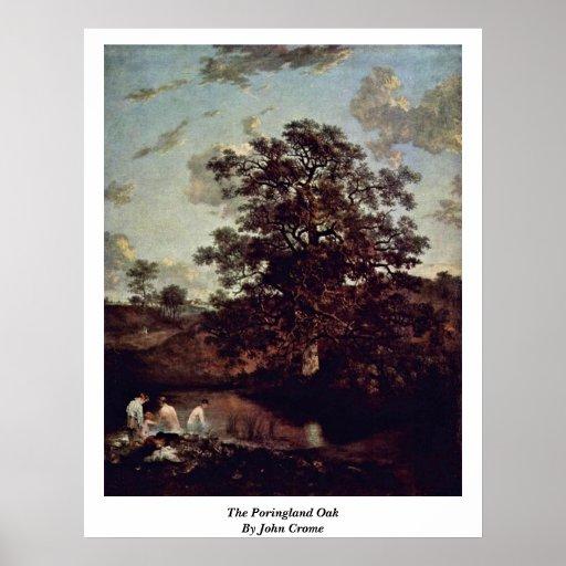 El roble de Poringland de Juan Crome Poster