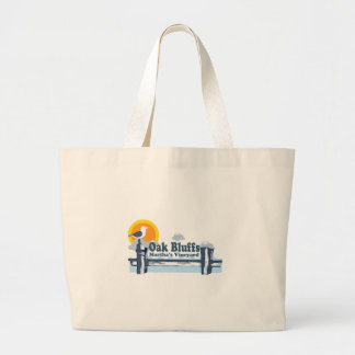 "El roble fanfarronea a diseño del ""embarcadero"" bolsa tela grande"