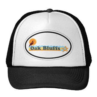 El roble fanfarronea a diseño oval gorra