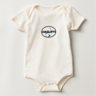 El roble fanfarronea a diseño oval traje de bebé