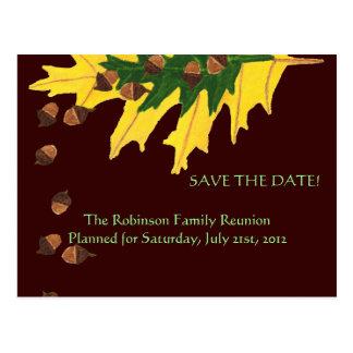 El roble se va y reserva de la reunión de familia tarjetas postales