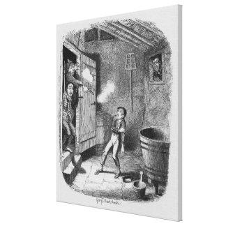 El robo de las aventuras de Oliverio Impresiones En Lona Estiradas