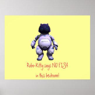 ¡El Robo-Gatito no dice NINGÚN PESCADO en este dor Póster