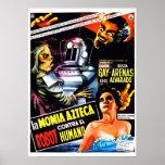 """""""El robot contra. Poster de la momia azteca"""""""