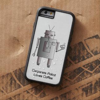 El robot corporativo ama el café, robot retro del funda tough xtreme iPhone 6