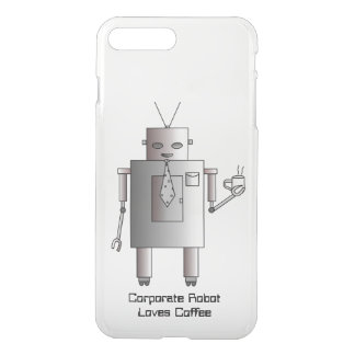 El robot corporativo ama el café, robot retro del fundas para iPhone 7 plus