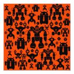 El robot de la diversión de la regla de los robots invitación 13,3 cm x 13,3cm