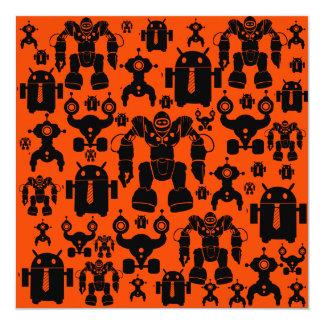 """El robot de la diversión de la regla de los robots invitación 5.25"""" x 5.25"""""""