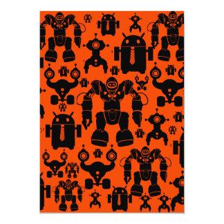 """El robot de la diversión de la regla de los robots invitación 5"""" x 7"""""""