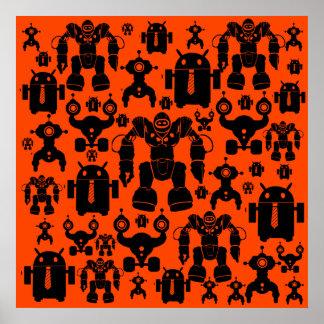 El robot de la diversión de la regla de los robots póster