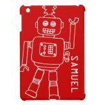El robot de la diversión embroma el ipad blanco ro iPad mini cobertura