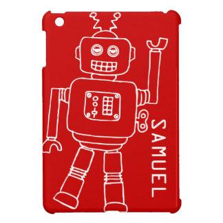 El robot de la diversión embroma el ipad blanco ro
