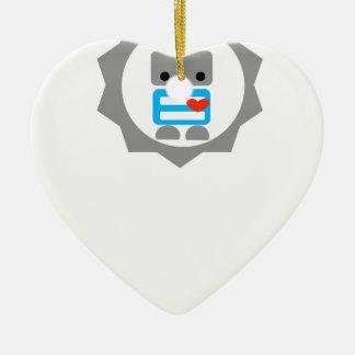 ¡El robot! Adorno De Cerámica En Forma De Corazón