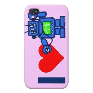 El robot del corazón I, robot escucha el corazón iPhone 4 Carcasas