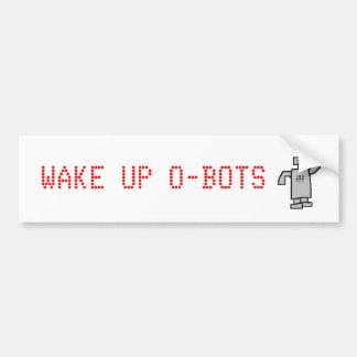 el robot, DESPIERTA O-BOTS Pegatina De Parachoque
