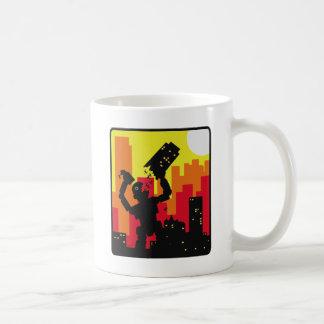 El robot destruye taza