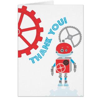 El robot el | le agradece cardar felicitacion