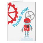 El robot el | le agradece cardar tarjeta pequeña