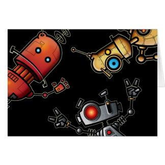 El robot le agradece cardar tarjeta de felicitación