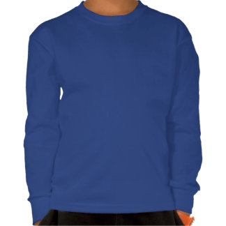 El robot lindo azul con oscuridad del corazón embr camisetas