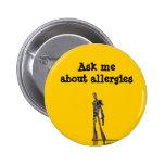El robot me pregunta acerca de alergias pins