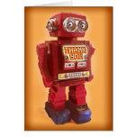 El robot rojo le agradece felicitación
