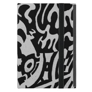 "El ""robot soña"" arte abstracto de B&W iPad Mini Carcasa"