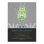 El robot y la fiesta de cumpleaños felices de los invitación 12,7 x 17,8 cm