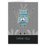 El robot y las primaveras felices le agradecen tar tarjetón