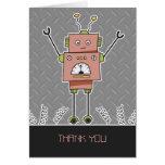 El robot y las primaveras felices le agradecen tarjeta