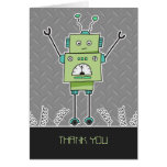 El robot y las primaveras felices le agradecen tarjetas