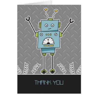 El robot y las primaveras felices le agradecen tarjetón