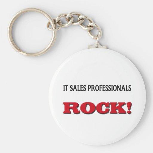 Él roca de los profesionales de las ventas llavero redondo tipo pin