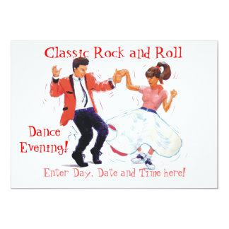 """El rock-and-roll clásico Jive el baile Invitación 5"""" X 7"""""""