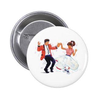 El rock-and-roll clásico Jive el baile Pin Redondo 5 Cm