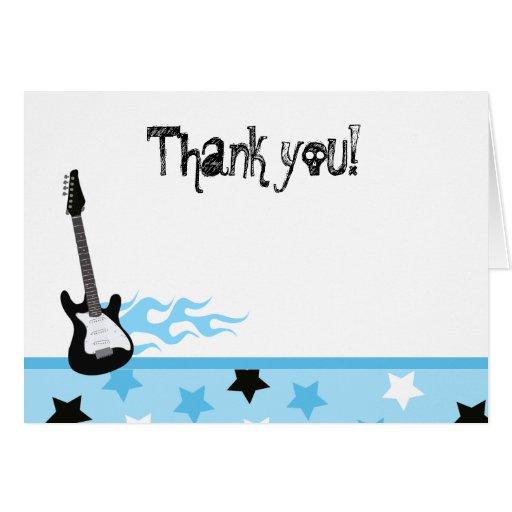 El rock-and-roll doblado le agradece las notas tarjetón