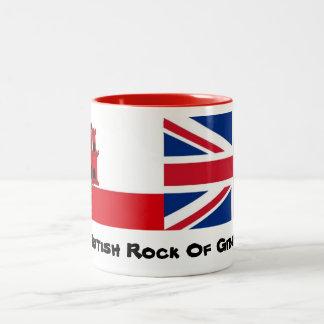El rock británico del diseño de la taza de