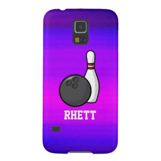 El rodar; Azul violeta y magenta vibrantes Fundas De Galaxy S5