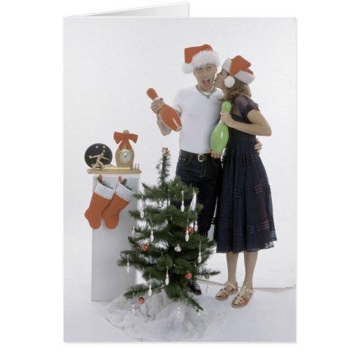 El rodar del navidad tarjeta de felicitación